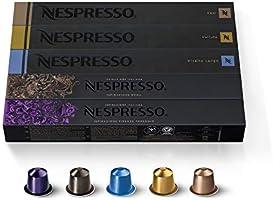 Nespresso OriginalLine Espresso Capsules, Variety Pack, VOLLUTO, ROMA, COSI, VIVALTO LUNGO, ARPEGGIO, 50Count pods