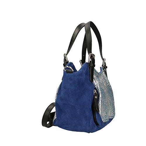 Chicca Borse Borsa a mano in pelle 35x16x13 100% Genuine Leather Blue Estilo De La Manera Del Envío Compra Original jD0nG