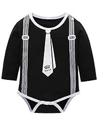 Baby Boys Tuxedo Body manga larga caballero Romper mono moda