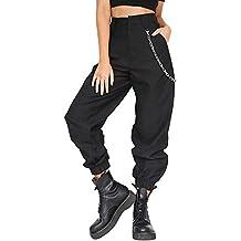 Pantalon Femme à Imprimé Camouflage Jogging Casual Sports Taille Haute  Trousers Jeans Cargo Pantalon Militaire de 647aebb9194a