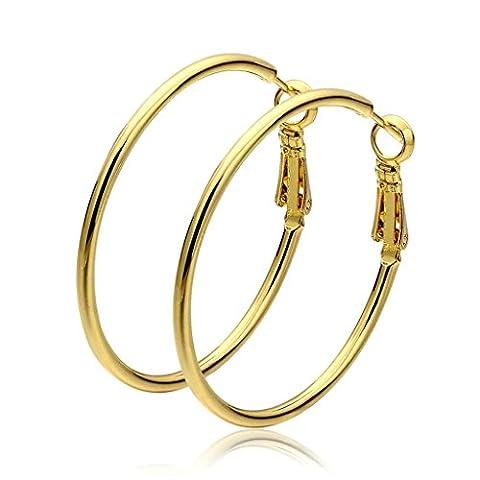 Adisaer Hoop Earrings for Women Gold Plated Big Round Earrings for Bridal Wedding Earrings Hoop Gold