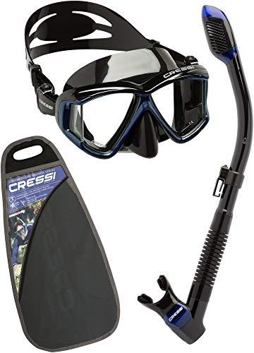Cressi Sub S.p.A. Pano 4 & Dry Kit de randonnée Aquatique Mixte Adulte, Noir/Bleu