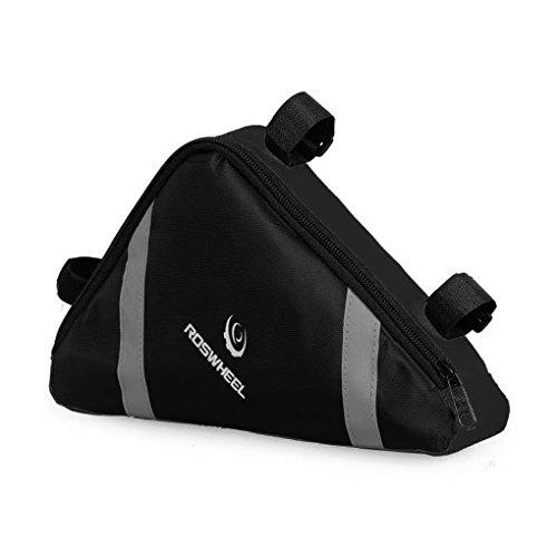 FakeFace Oxford Gewebe Dreiecktasche Triangel Bag Fahrradtasche Utensilientasche Radtasche für Radsport Bergsteigen Camping Trekking 20 x 23 x 6 CM (Schwarz)