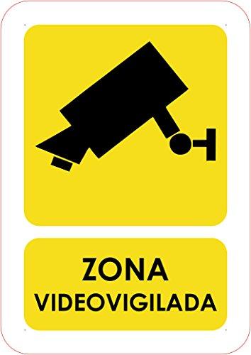 Oedim Señaletica de Videovigilancia 14,8x21cm | Señaletica en Material PVC Resistente de 3mm
