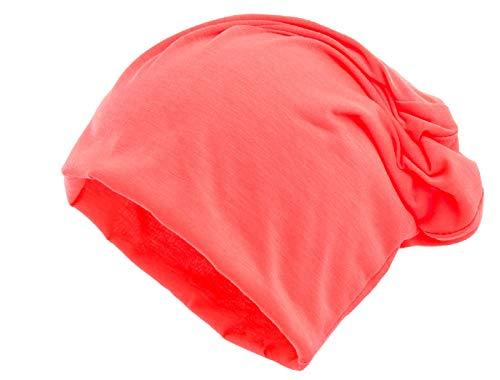 Shenky - cappello leggero in jersey xxl - per l'estate - arancione fluo xxl