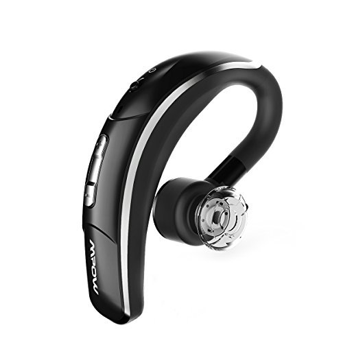 Mpow® Bluetooth Headset [Business Stil] WLAN Headset Bluetooth Ohrhörer Freisprechen mit Clear Voice Capture Technologie Bluetooth In-Ear für iPhone Samsung Huawei HTC, etc. (Bluetooth 4.1, 280 Stunden Standby-Zeit, Schwarz)