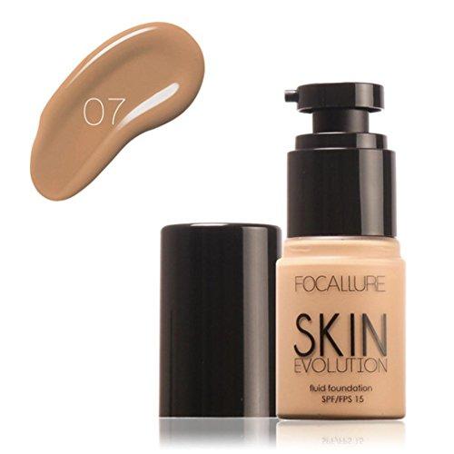 Fondation liquide, Saihui Fond de teint Base de maquillage liquide Concealer Hydratant Oil-control 35ml (G)