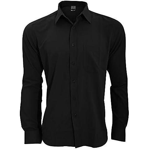 Henbury - Camisa Transpirable para trabajar de manga larga accion anti-bacterial Hombre/Caballero -