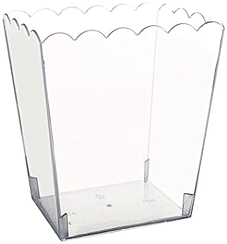Amscan 15.2 cm Medium Clear Plastic Scalloped Containers
