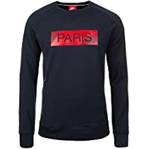 Nike Mens Paris Saint-Germain Authentic Crew Sweatshirt Dark Obsidian/Hyper Cobalt 17/