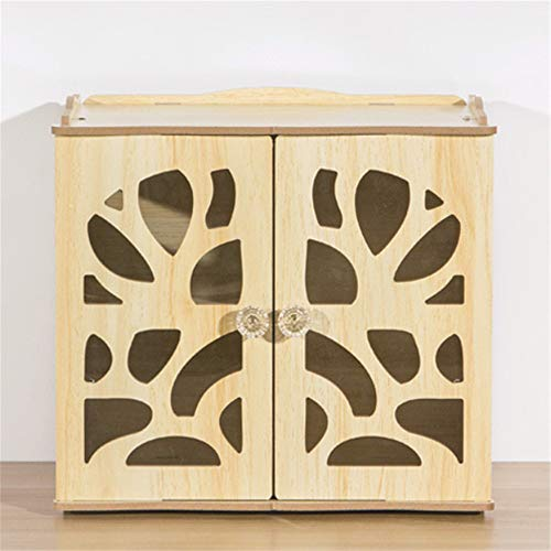 Schließfächer, Verdickungsregale Aus Holz, Kleine Schränke, Staubdichte Schreibtischschränke, 26 * 17 * 24 Cm, Eiche -