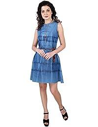 729d228c47f4c Denim Women's Dresses: Buy Denim Women's Dresses online at best ...
