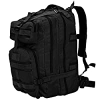 Retrome Army-Style Backpack 50 L Black Rucksack for for Scouts, Hunters, Hikers and Outdoor Enthusiasts
