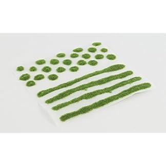 WWS Tiras y Mechones autoadhesivos de Hierba estática Verano – Wargames, Modelismo Ferroviario (2mm)