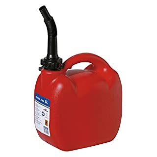 Durable Red Plastic Jerry Fuel Oil Water Petrol Can Container & Funnel (Small - 5L)