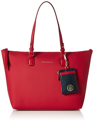 Tommy Hilfiger  LOVE TOMMY REV. MED TOTE TH STARS, Sac à main pour femme Multicolore (Scooter Red / Midnight Scooter Red 906 906)