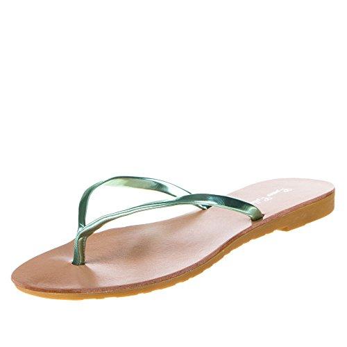 Damen Schuhe, DS833, SANDALEN Hellgrün