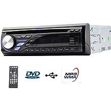 EinCar único 1DIN Auto Radio de coche con panel desmontable CD reproductor de DVD en Dash FM Receptor Digital AM USB/SD AUX EQ Sistema multimedia unidad central estéreo apoyo mando a distancia