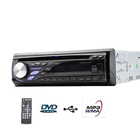 eincar simple 1DIN automatique Radio de Voiture avec lecteur CD DVD Panneau détachable en bord AM FM Récepteur numérique multimédia USB/SD/AUX EQ Système l'autoradio stéréo Support