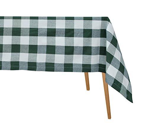 Mantel cuadros búfalo verde - Mantel algodón cuadros