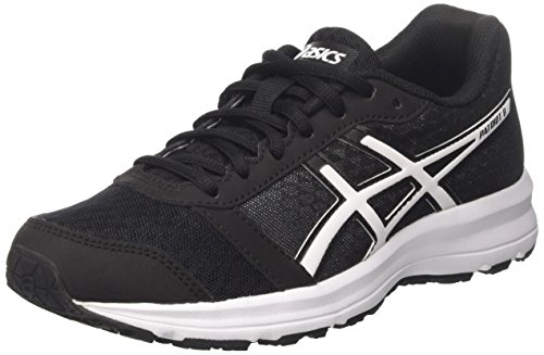 Asics Women's Patriot 8 Running Shoes, Black (Black/White/White), 5.5 UK 39 EU