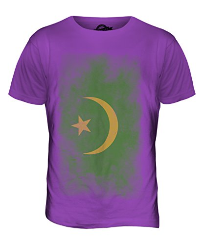 CandyMix Mauretanien Verblichen Flagge Herren T Shirt Violett