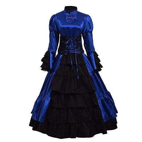 GRACEART Gotisch Viktorianisch Ball Kleid Reenactment Kostüm Kleid (Medium)