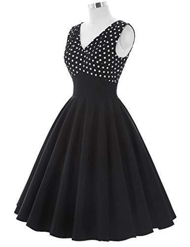 1950er-Style-Vintage-Kleid-Knielang-Festliche-Kleider-Sommerkleid-A-Linie-BP93