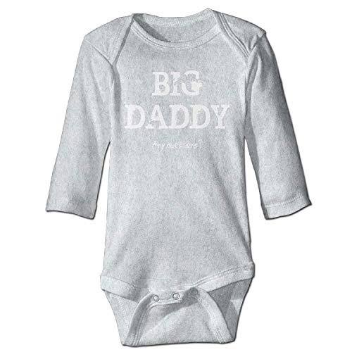 MSGDF Unisex Infant Bodysuits Big Daddy Funny Girls Babysuit Long Sleeve Jumpsuit Sunsuit Outfit Ash
