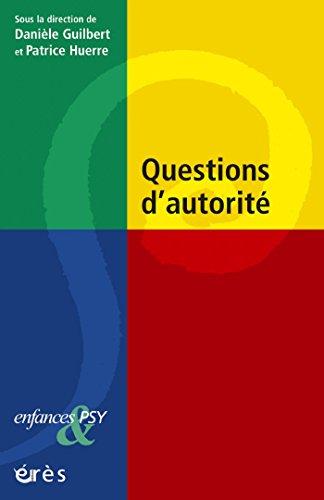 Questions d'autorité par Danièle GUILBERT