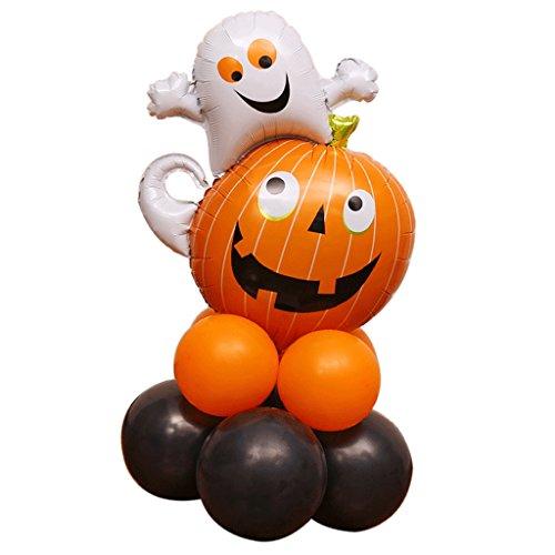 Fenteer Reizende Halloween Ballon Latexballon Folienballon, 6 Stile Auswahl - Geist Kürbis