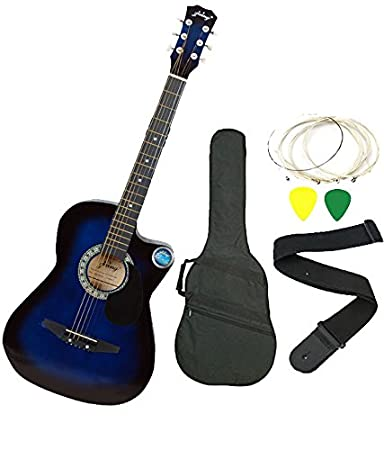 Jixing JXNG 6 Strings Acoustic Guitars With Combo Blue Amazonin Musical Instruments