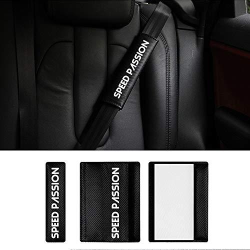Lot de 2 housses de ceinture de s/écurit/é pour Peugeot 308 Protection /épaules Confort Rembourrage Clip de s/écurit/é Accessoires de mod/élisation dint/érieur