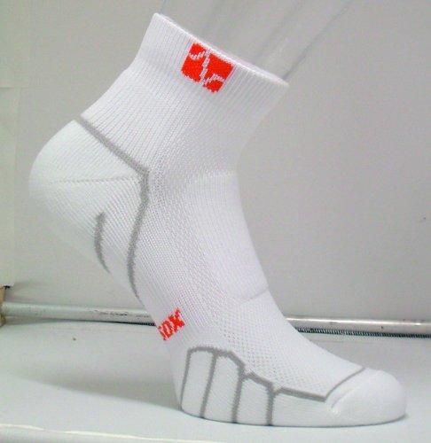 VitalSox Italian Low Cut Running, Sport, Gym Ultra Light Weight Silver Drystat Socks, White, Large VT0410