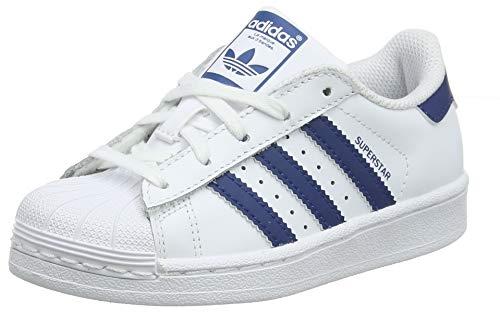 adidas Unisex-Kinder Superstar C Gymnastikschuhe Weiß (Ftwr White/Legend Marine), 30 EU