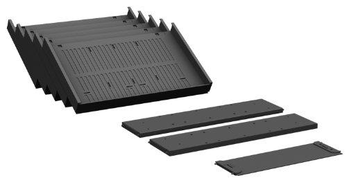 Gera Möbel S-530900 Container-Einrichtungs-Set Venedig für Metall-Schubfächer, schwarz