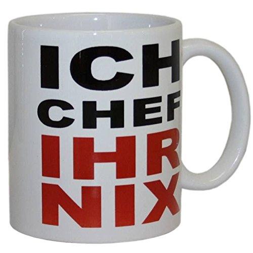 Ich Chef Ihr Nix Tasse - Fun Kaffeetasse, Spruchtasse, Kaffeebecher, Teetasse, Bürotasse