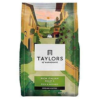 Taylors of Harrogate Rich Italian Ground Coffee, 454 g (Pack of 4)