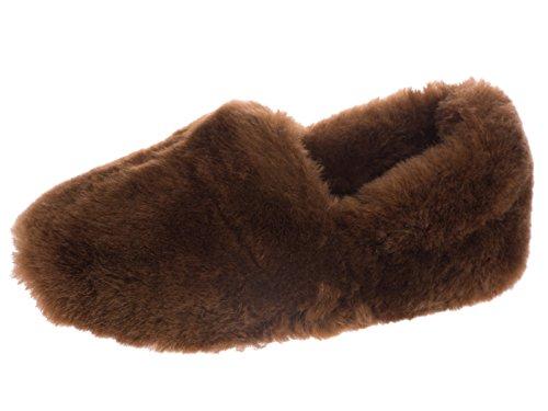 Refroidisseurs Mesdames luxe confortable Chausson en peau de mouton véritable 4 5 6 7 8. brown