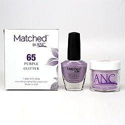 ANC Amazing Nail Concepts Matched kit  65 Purple Glitter by ANC