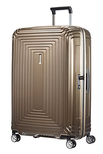 Samsonite Neopulse - Spinner L Valise, 75 cm, 94 L, Marron (Metallic Sand)