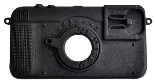 FreshFiber - Custodia per iPhone 4 a forma di fotocamera, colore: Nero grafite