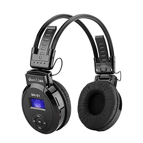 Quelima SH-S1 Bluetooth Kopfhörer Over Ear, Kabellose Kopfhörer mit Hi-Fi Stereo, Dual 40mm Treiber und Noise Canceling für Integriertem Mikrofon Fernsteuerung mit Laptop, Tablet, iPad, Mobile Phone (Iphone Boost Phones Mobile 4)
