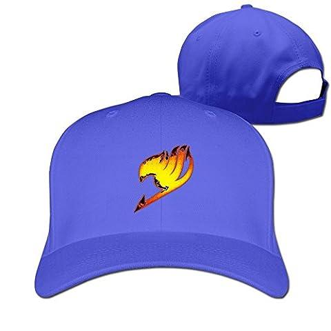 Feruch ZULA Particular Unisex Farily Flame Logo Tail Baseball Visor Cap White Royalblue