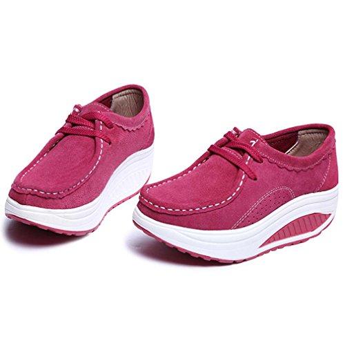 Solshine , chaussons d'intérieur femme Rouge - Fuchsia