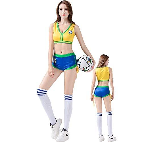 MCO%SISTSR Cheerleader-Kostüm,Mädchen Team Uniform Set Sexy Shorts Fußball High School Musik Bekleidung Sports Club Sports Bar Show,Style 5,L - Mädchen Uniform Shorts