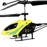 Fofofs Hélicoptère RC Anti-Chute King 2.5 canaux Super Mini Nouveaux Enfants Télécommande Avion Hélicoptère Lumineux Jouet Électrique (Color : Yellow)