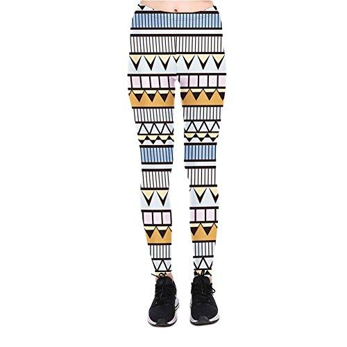 Frauen Übergröße Tall Leggins Silk Look Geometrie Leggings Hosen XL