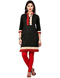 Mytri Black Ps Straight Solid Long Kurta