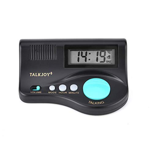 (SPANISCH) Sprechender Wecker Digitale Sprechende Uhr Alarm Blindenuhr Seniorenwecker Tischwecker Standwecker mit Ansage Uhrzeit und Weckfunktion (Lautstärke Sprachwiedergabe regelbar!) (Spanisch Wecker)